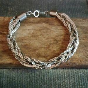 Jewelry - Handmade Silver Multiple Chain Bracelet
